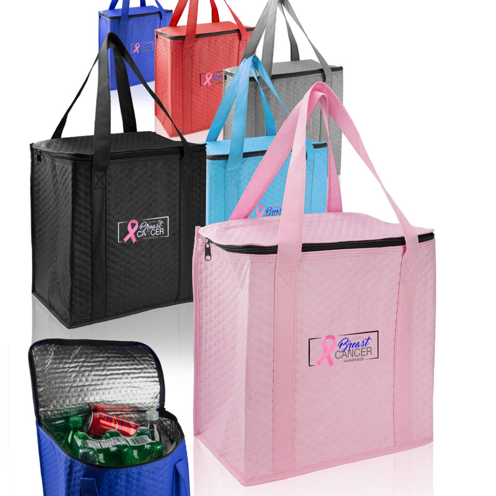 Design Custom Printed Basic Zippered Insulated Grocery Totes